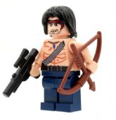 Rambo with Bow and Arrow - Custom Designed Minifigure